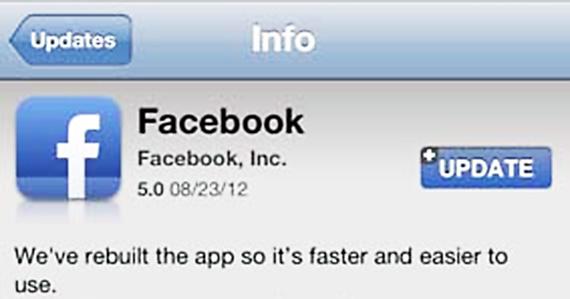 Aplicatia Facebook pentru iOS a fost updatata, aducand modificari importante