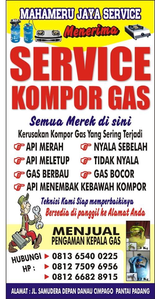 SERVICE KOMPOR GAS PADANG