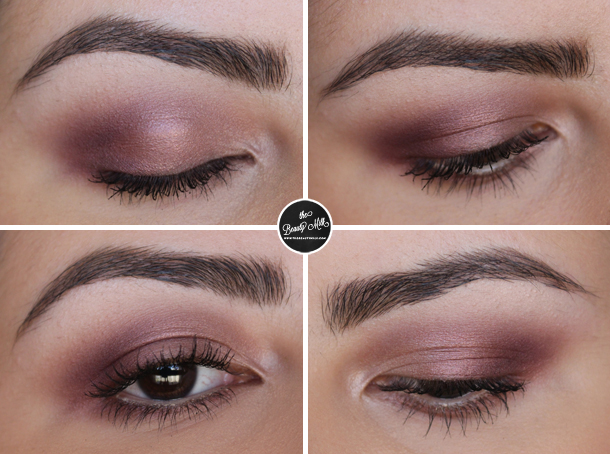 mac star violet burgundy makeup look