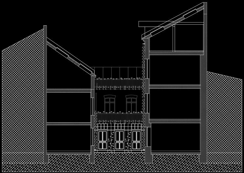 Querschnitt / Ansicht - Rückgebäude (05-2012)