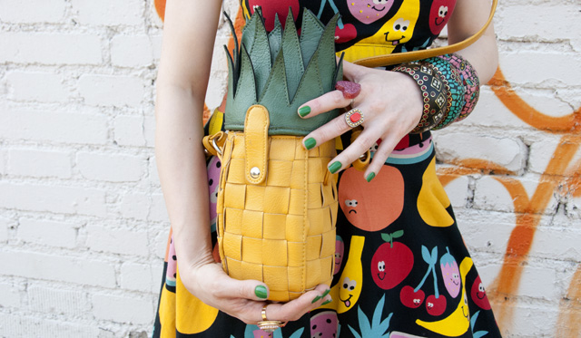 pineapple bag, asos, lazy oaf, nasty gal