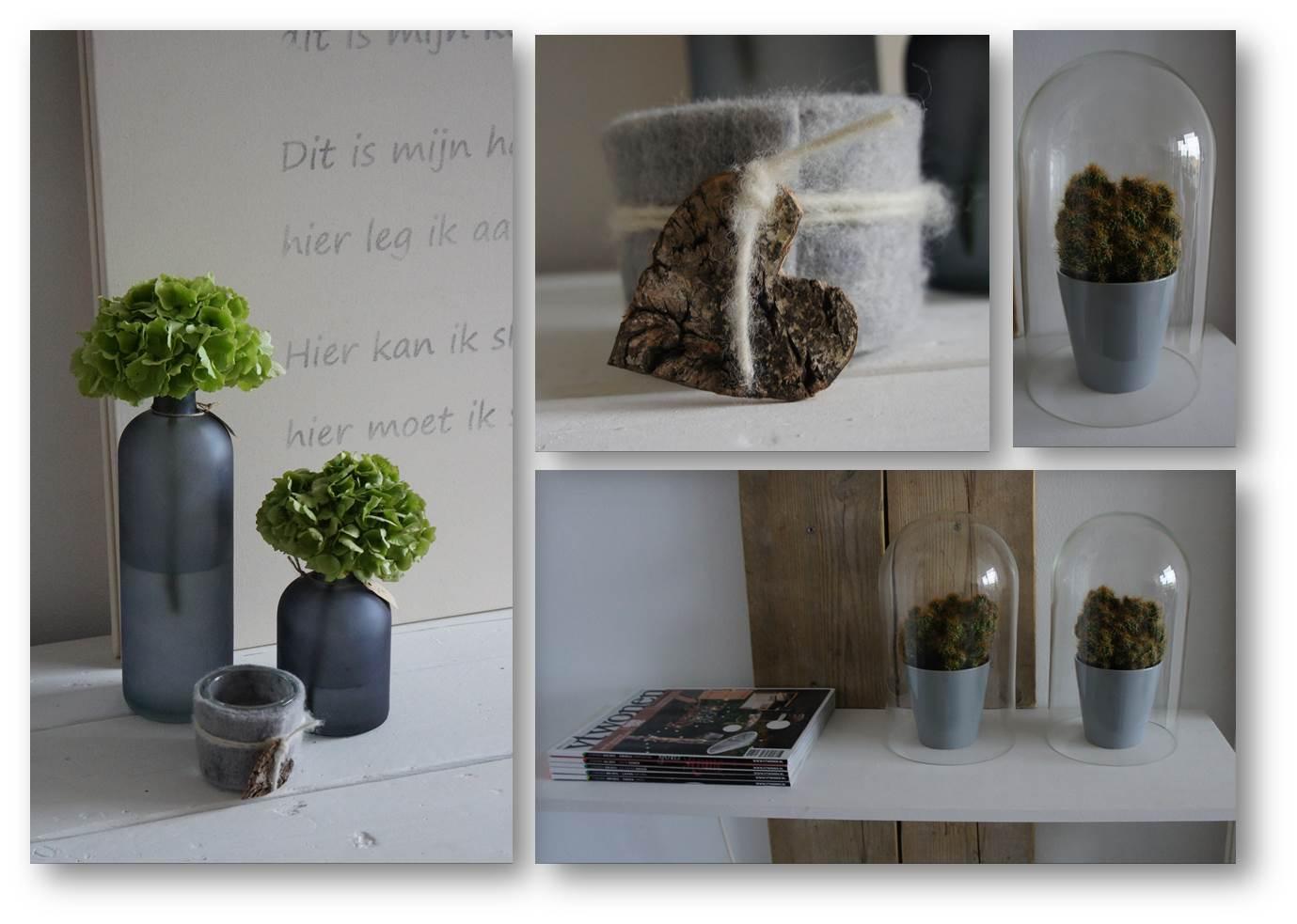 Decoratie idee woonkamer - Deco woonkamer aan de muur wit ...
