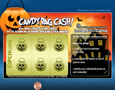 Candy Bag Cash from PCH Lotto