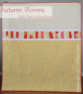 Autumn Blooms Quilt Back