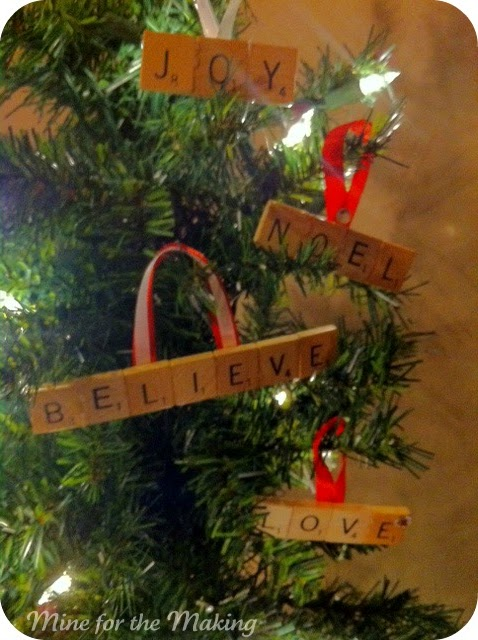 Scrabble Ornaments Tutorial Mine For The Making