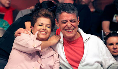 Dilma Rousseff e Chico Buarque