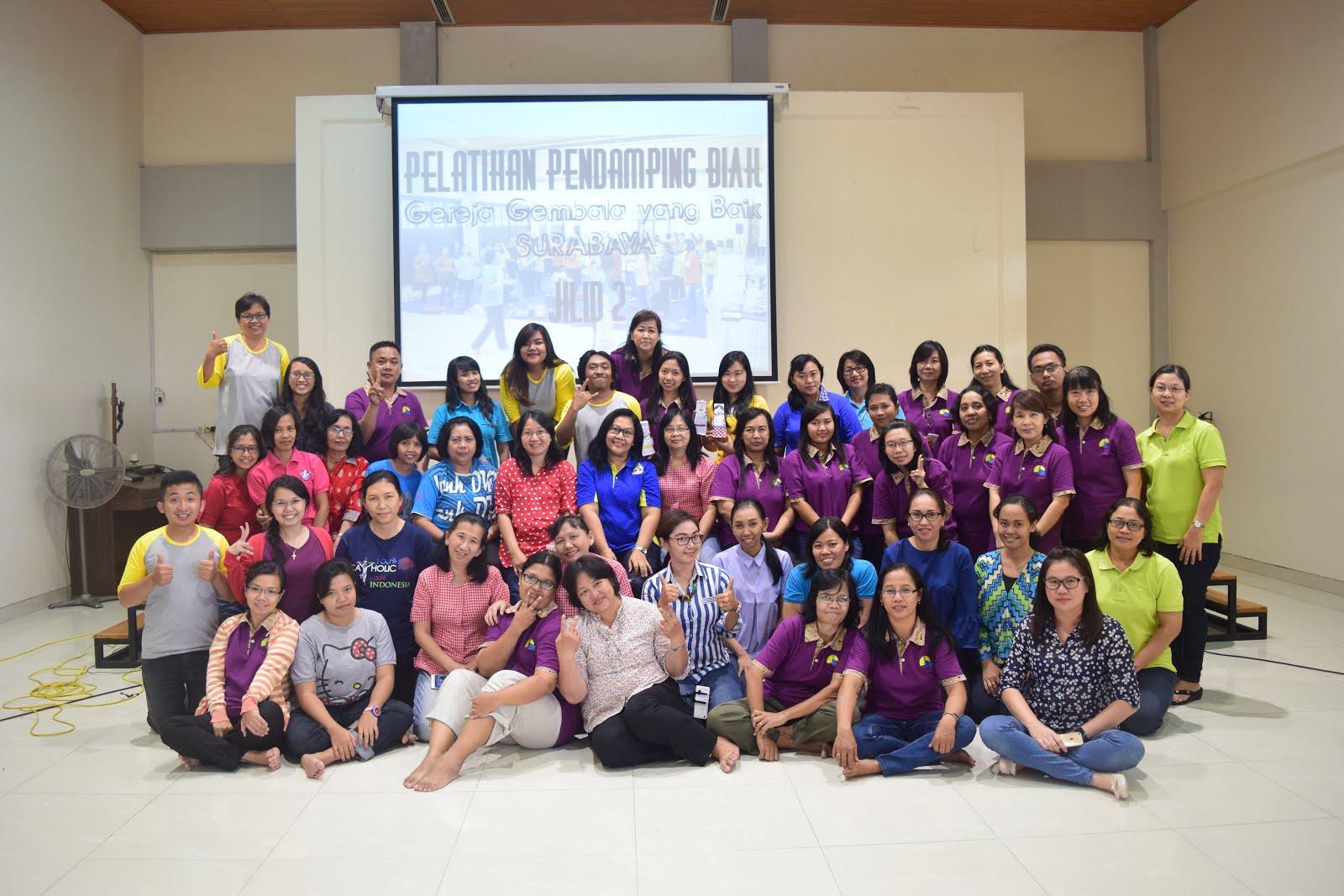 Bersama Para Pendamping BIAK Kevikepan Surabaya Selatan (20-21 Mei 2017)