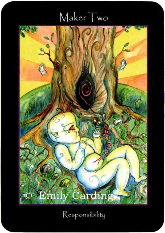 Tarot of the  Sidhe Maker Two responsibility Emily Carding