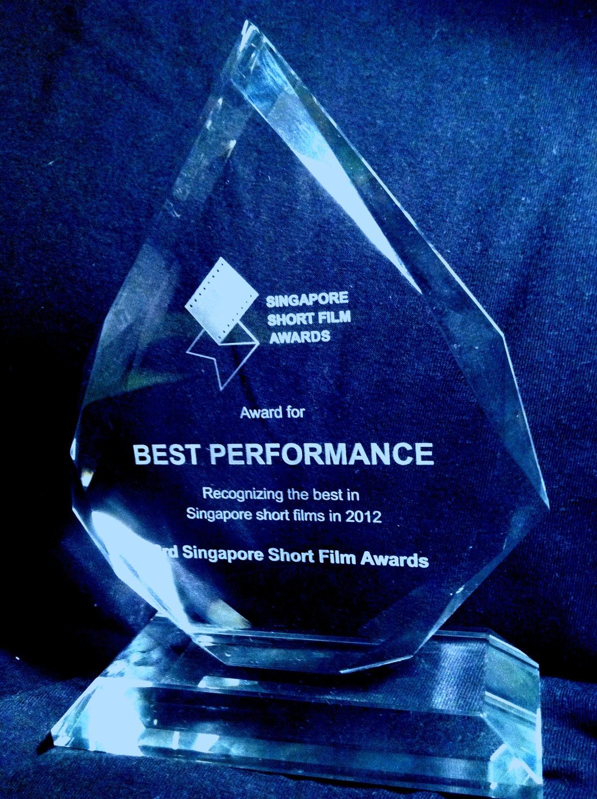 Michael Chua: 3rd SSFA 2012, Best Performance Award