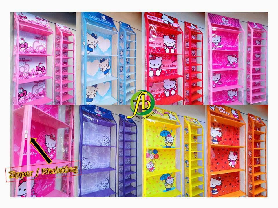 Hanging Bag & Hanging Shoes Organizer Karakter Hello Kitty