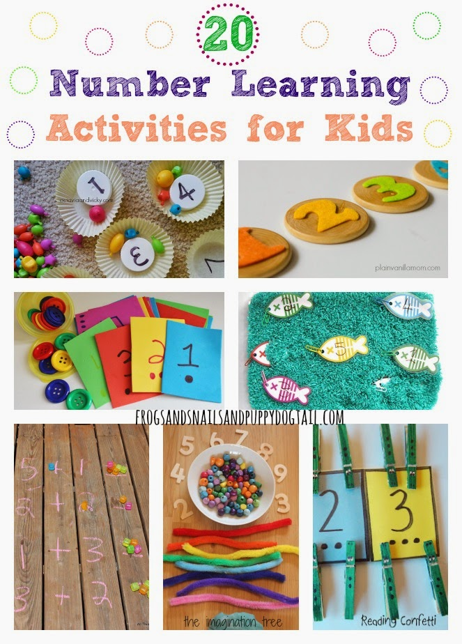 20 Number Learning Activities for Kids