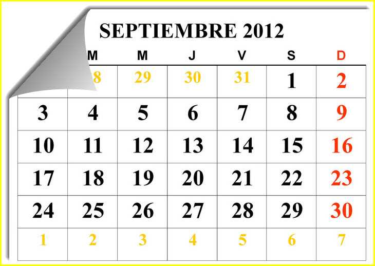 lunes  3 de septiembre de 2012Calendario Septiembre 2013