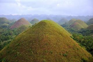 Las colinas de Chocolate en Filipinas