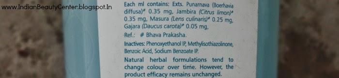 Himalaya Refreshing and Clarifying Toner Ingredients