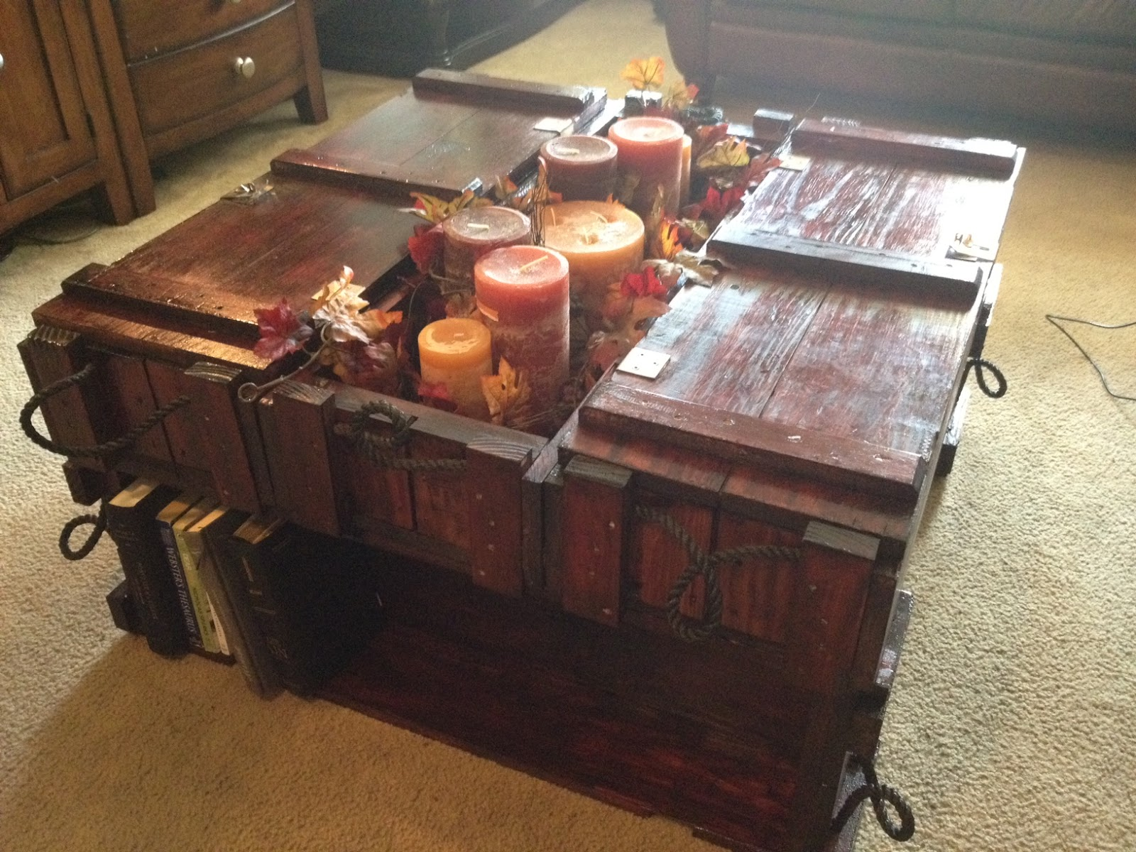 For the love of butter and all things bad Ammo crate coffee table