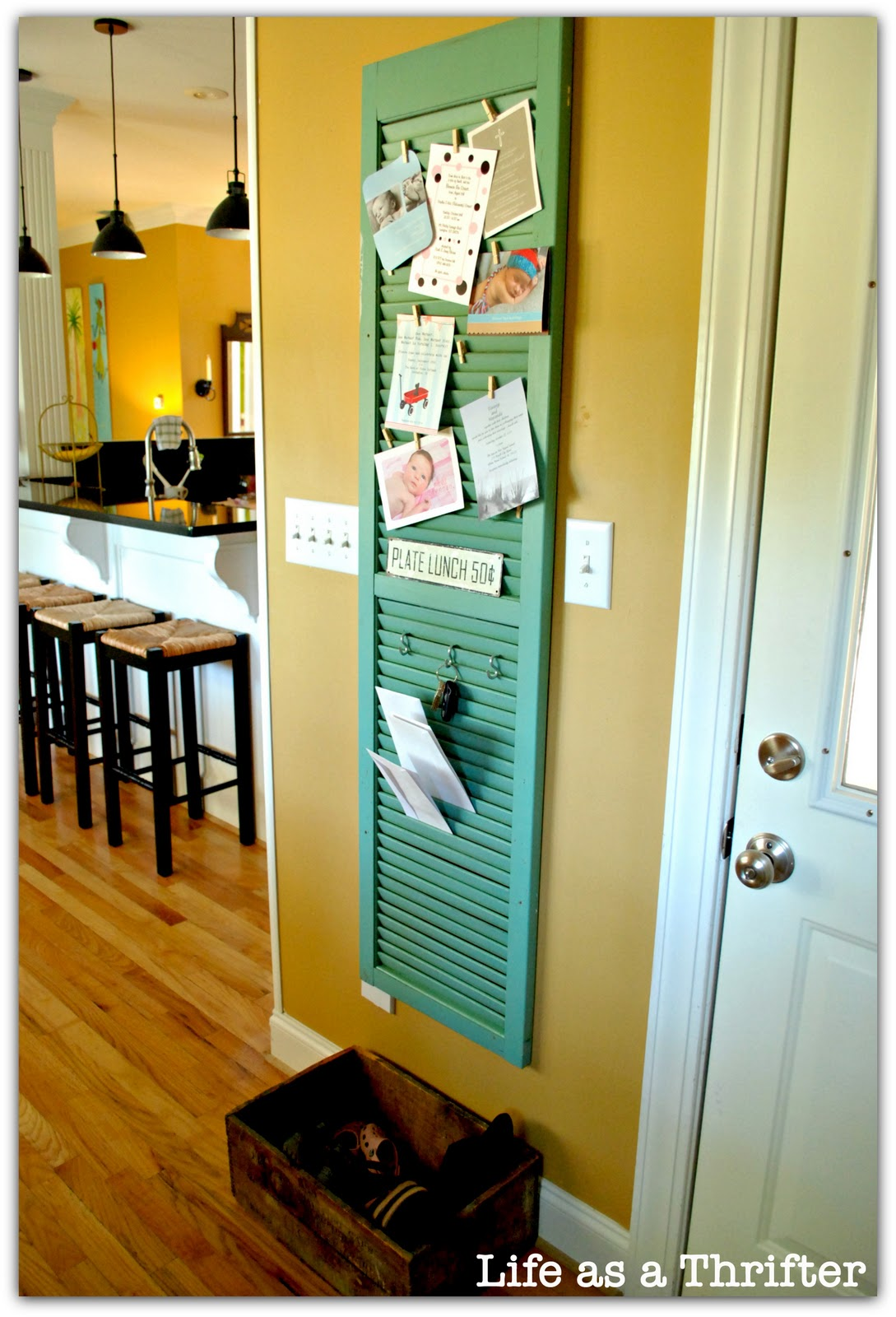 Kitchen Message Board Life As A Thrifter Home Tour The Kitchen