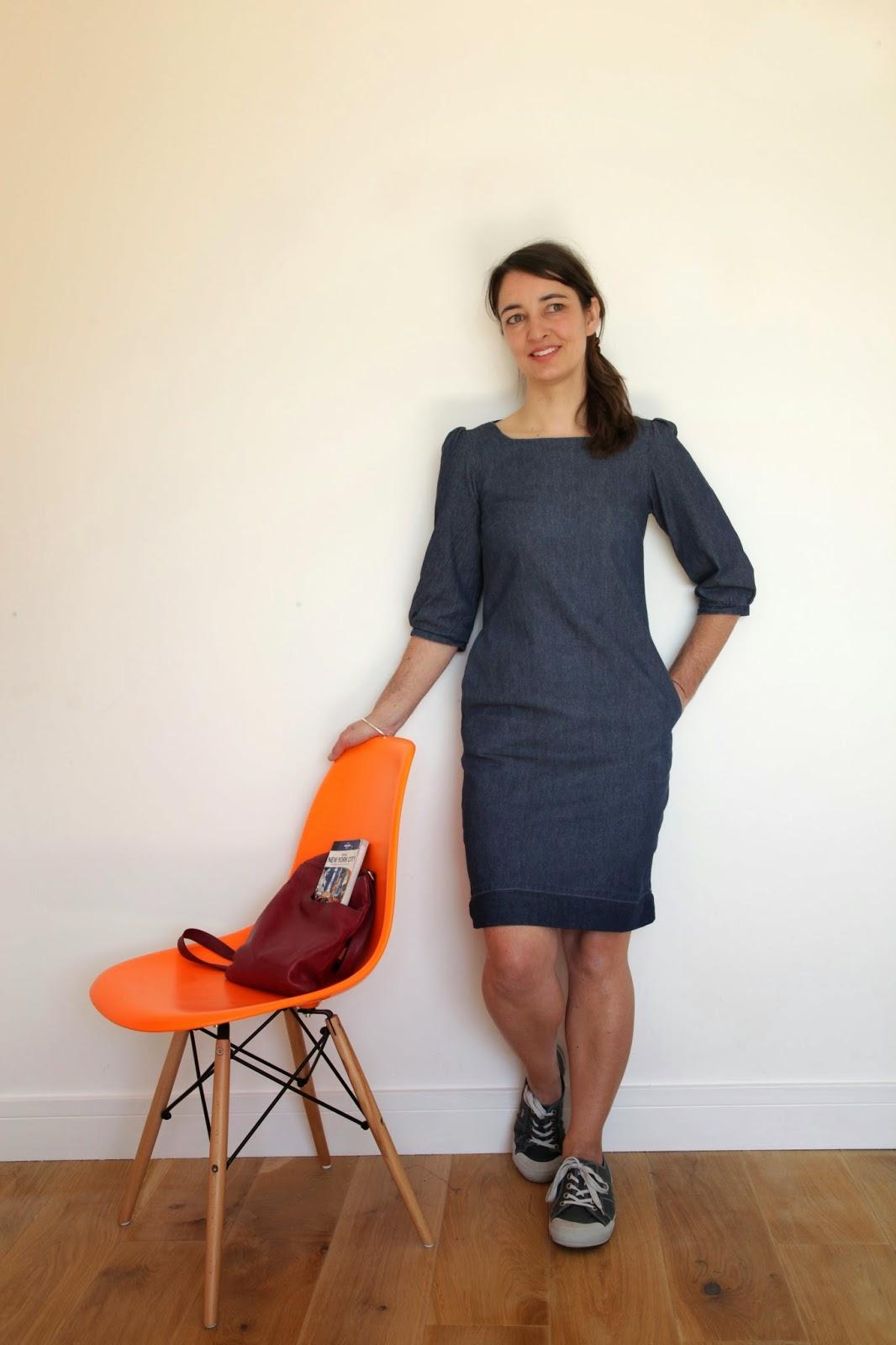 Denim dress, Vanessa Pouzet, La petite Robe, as-it-seams