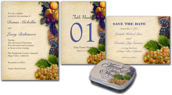 Rustic Winery Vineyard Wedding Card