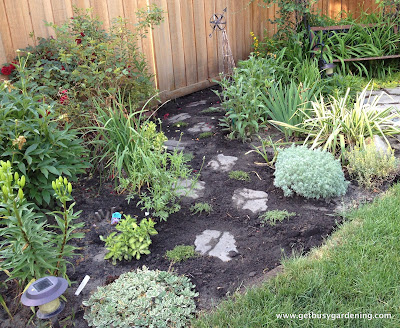 Perennial garden new path