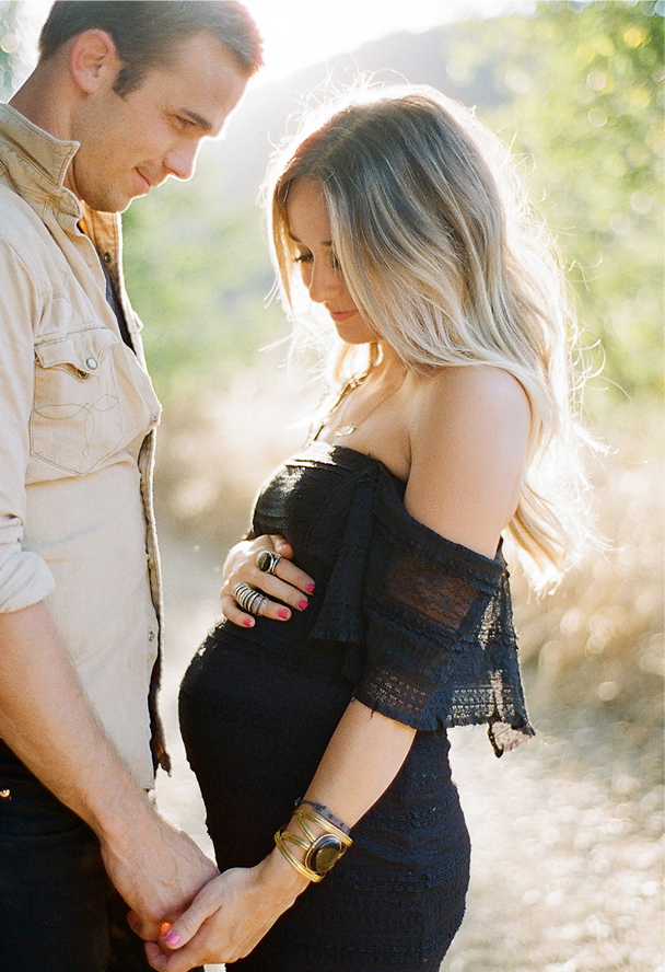 Fawn over baby beautiful maternity family photo session ann molen