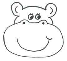 рисунок бегемот