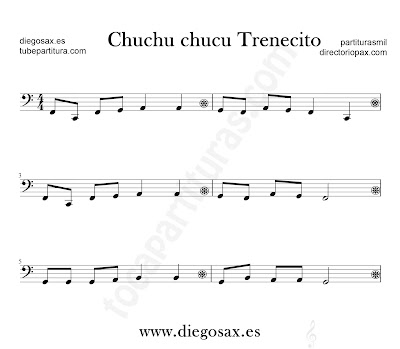 Chucu Chucu Trenecito partitura para Trombón, Tuba, Violonchelo, Fagot, Bombardino... en clave de Fa