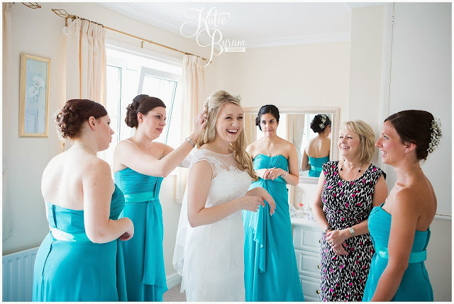 bridesmaids getting ready, high house farm brewery, northumberland, high house farm wedding, katie byram photography, healey barn, newcastle wedding photographer, coco luminaire