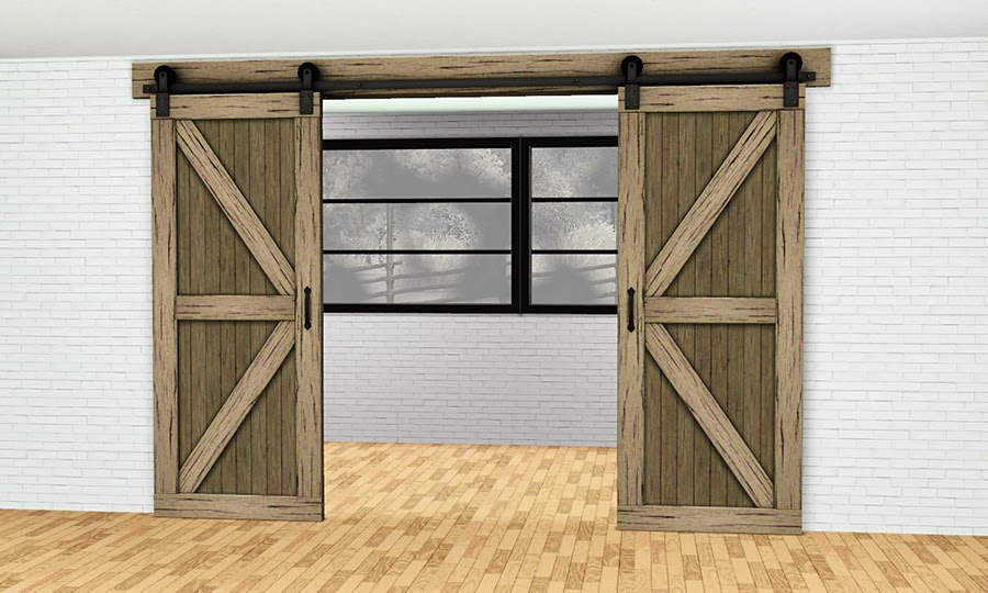 My Sims 3 Blog Roundpole Fence And Double Sliding Barn