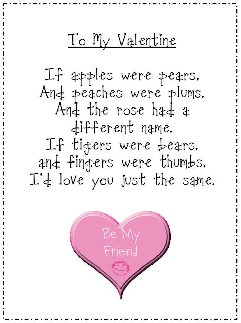 Kids valentines day poems