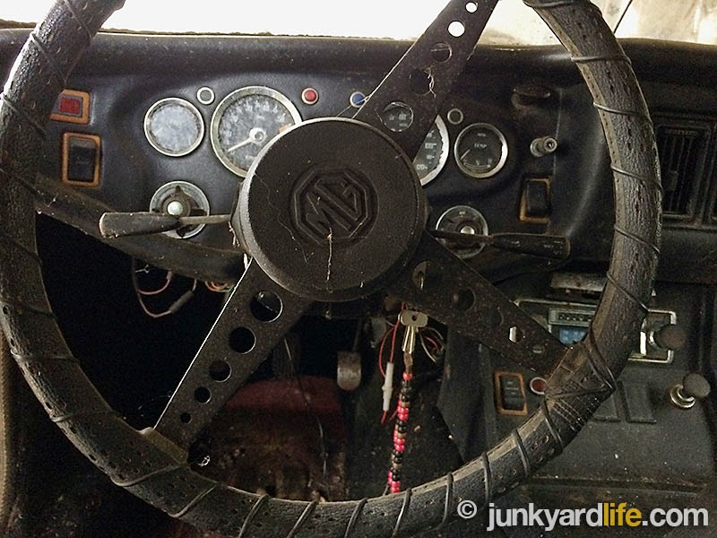 MGBs were equipped with collapsible steering columns beginning in 1968.