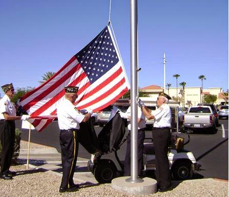 Retiring American Flags