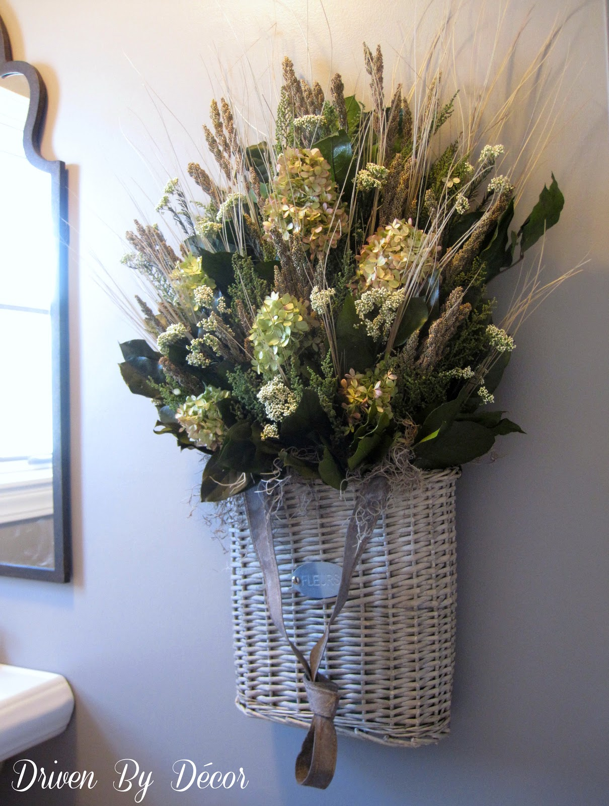 Basket Flower Decoration Whats Over Your Toilet Driven By Decor