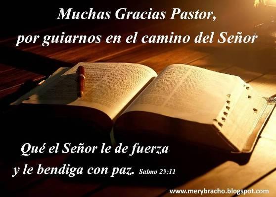 Postal Gracias Pastor por guiarnos | Entre Poemas y Vivencias