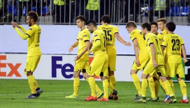Aubameyang Hattrick: FK Qabala vs Borussia Dortmund 1-3 Group A Europa League