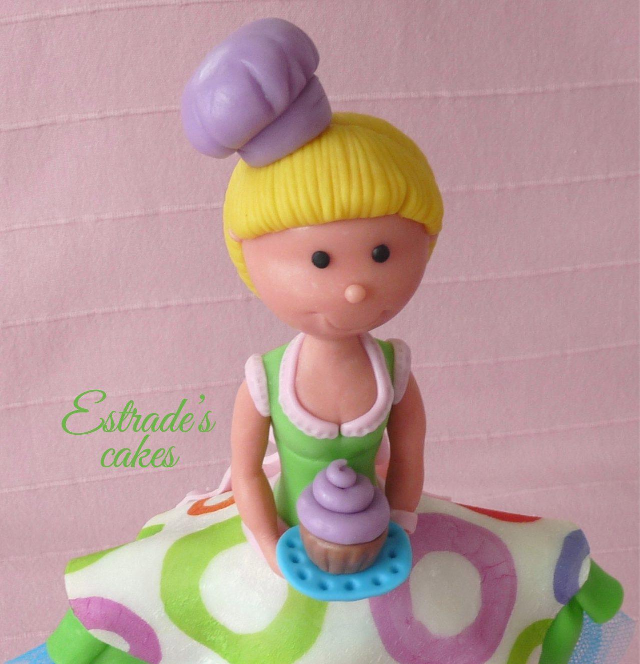 muñeca alta pastelera en porcelana fría - 2