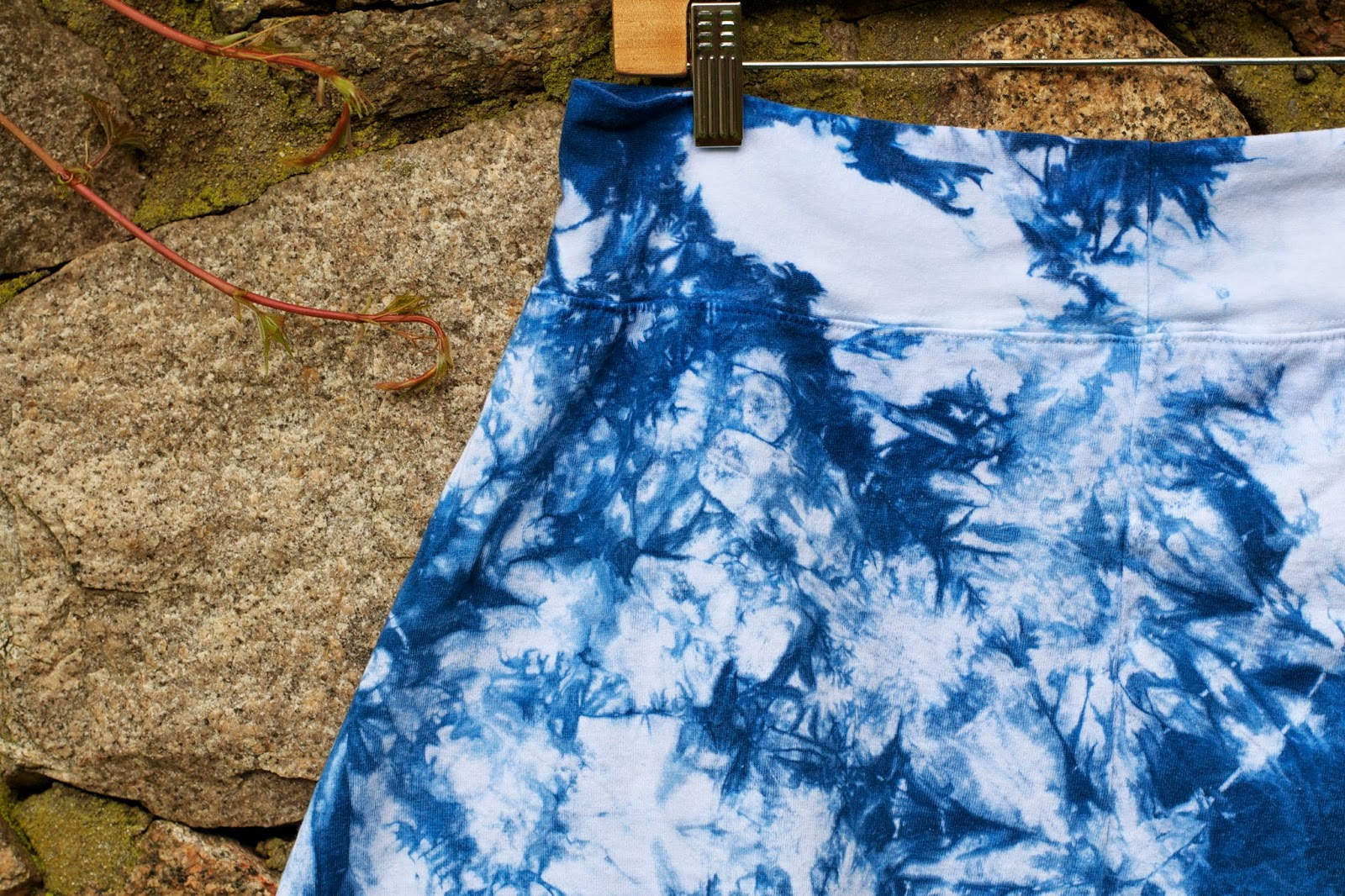 Its all texture. Indigo shibori design.