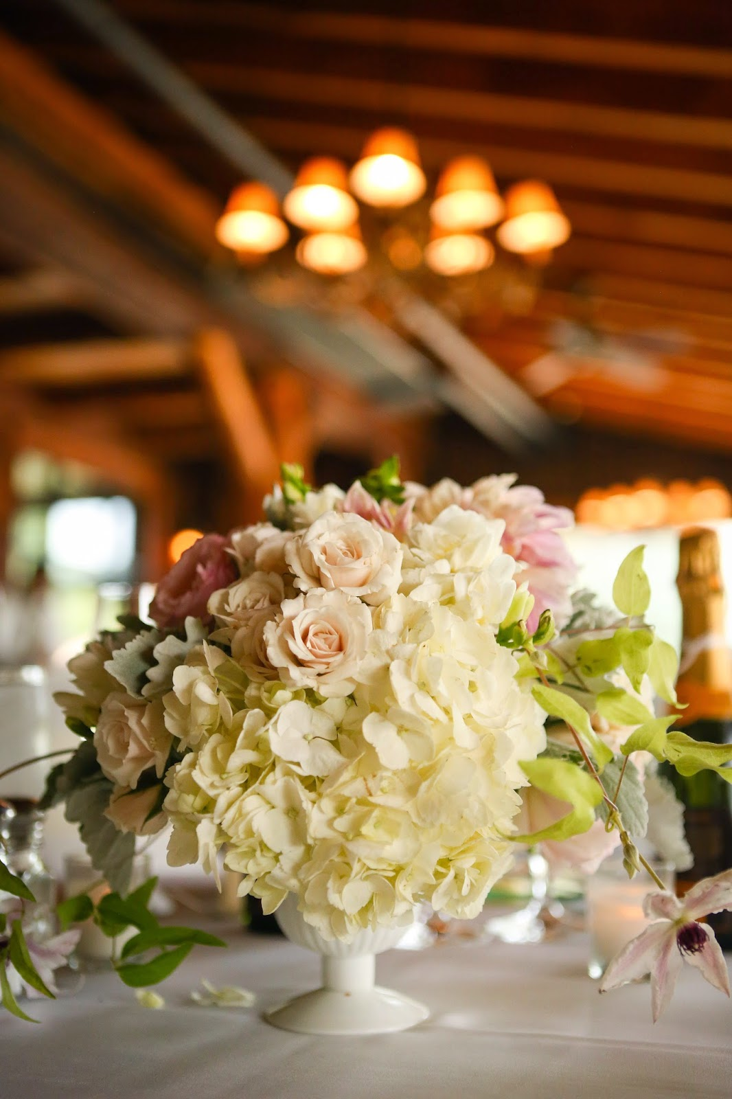 Lake Placid Wedding - The Whiteface Lodge Wedding - Table Centerpiece - Upstate NY Wedding - Splendid Stems Floral Designs