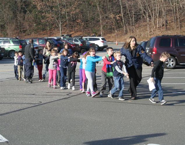 children running for their lives