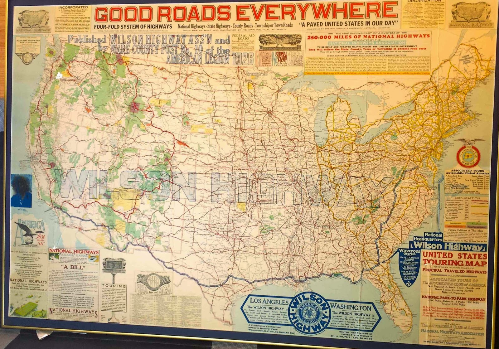 1926 road map u s a this map was used by my great great grandfather great great grandmother great grandfather grandfather and his younger