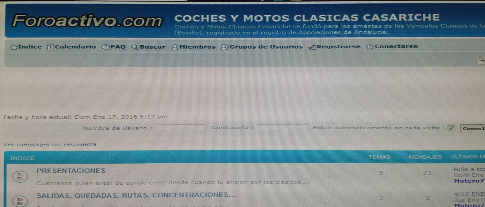 FORO DE MOTOS CLASICAS CASARICHE
