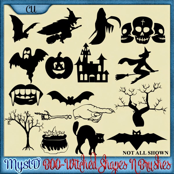 Boo-Witched Shapes N Brushes Bundle