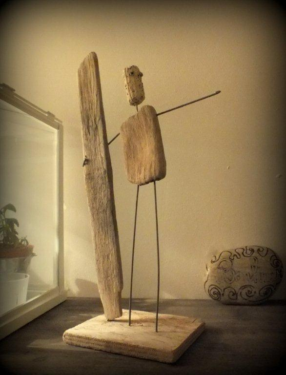 Art en bois flott sculpture and art on pinterest for Sculpture murale bois flotte