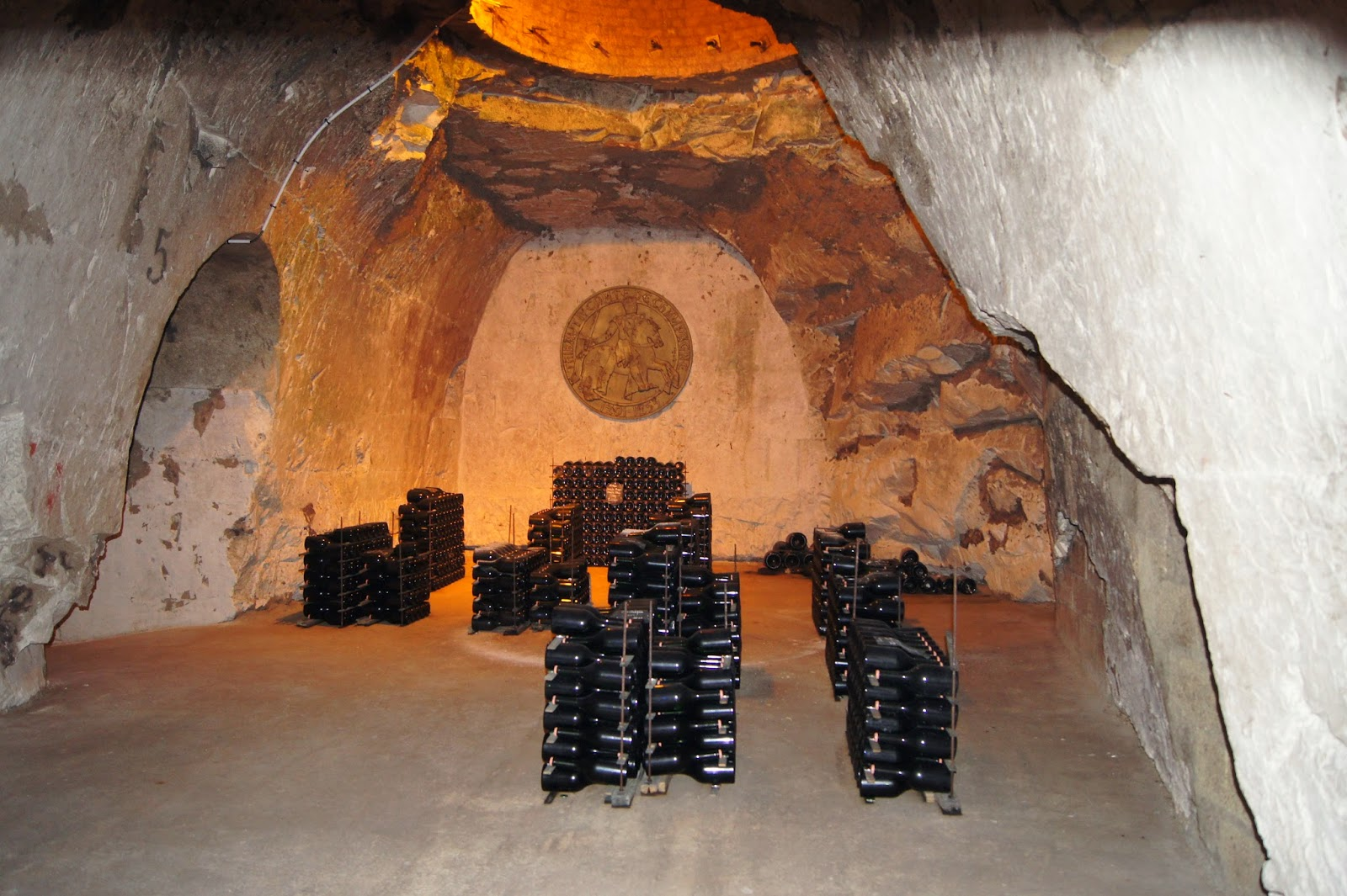 Champagne Taittinger wine caves