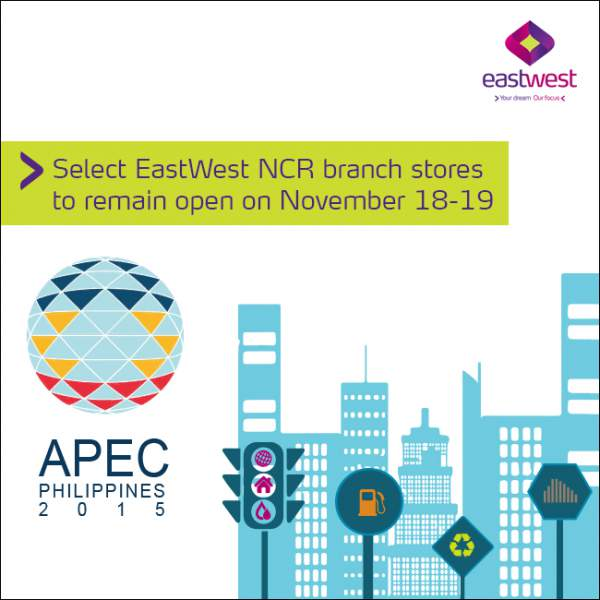Image: EastWest Bank APEC 2015