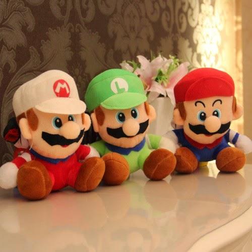 Jual boneka lucu Mario Bros
