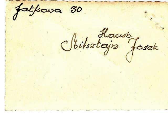 Podpis pod fotografią przedstawiającą dom Joska Milsztajna. KW.