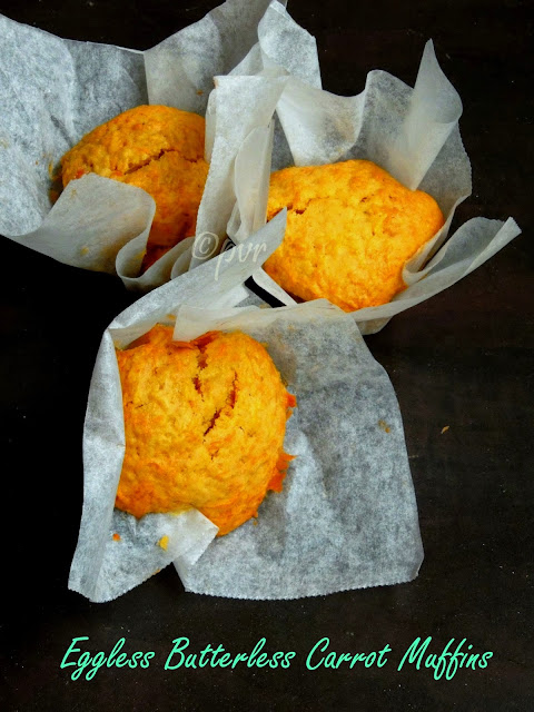 Eggless Carrot Muffins