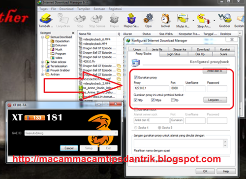 Setting Proxy IDM for  Internetan Gratis