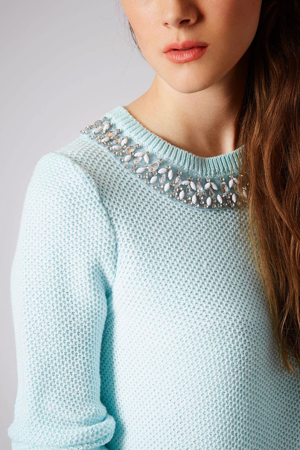 topshop necklace jumper