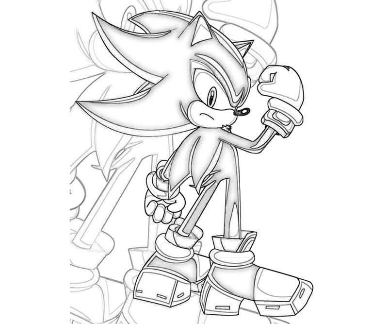 Sonic Generations Shadow The Hedgehog Skill Surfing Shadow The Hedgehog Coloring Pages